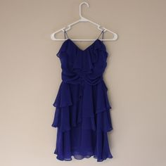 Gorgeous Blue Arden B Ruffle Homecoming Dress M This romantic, flowy dress is beautiful especially for a fuller bust and is great for a night out - be it a dinner or a homecoming. Wow that special someone or put your best foot forward for your friends! New condition. Arden B Dresses Prom