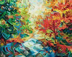 "Julia Veenstra, Downstream, 48"" x 60"", acrylic on canvas"