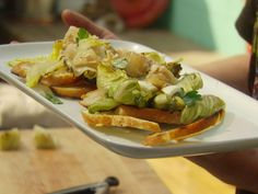 Grilled Chicken Caesar Salad recipe from Food Network Star via Food Network