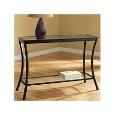 Metal Glass Top Black Console Table Furniture Sofa Entryway Hallway Living Room #Modern
