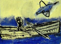 Lost in The Fog Outsider T Marie Nolan Raw Folk Art Brut Boat Painting Original | eBay