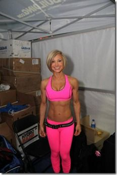 Jamie Eason in Pink.  Inspiration to keep working.