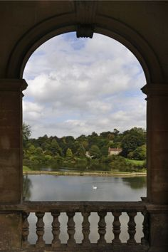View through one of the arches of the Palladian Bridge, Prior Park, Bath. ©National Trust Images/Charlie Waite