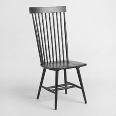One of my favorite discoveries at WorldMarket.com: Black Wood Kamron High Back Windsor Chairs Set of 2