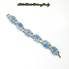 Lisner Glowing Jelly Leaf & Rhinestone Bracelet – 50s