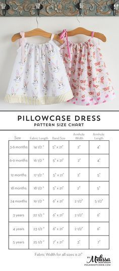 Learn how to sew a pillow case dress with this Pillowcase Dress Tutorial. Includes full instructions and a chart to help you resize the dress for various ages. The quickest dress you'll ever sew!