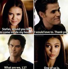 I LOVED Damon and Elena's banter! :D