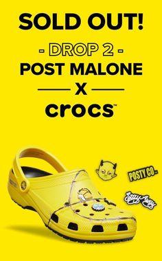 f2dd20d493de9 Post Malone X Crocs Barbed Wire Clog (Limited Edition) M8, W10 Post Malone