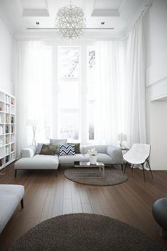 """"""" •  Living room inspired by """"Maison du Boise"""" house """""""