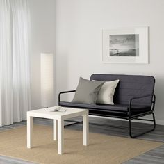 IKEA HAMMARN sofa-bed Readily converts into a roomy bed for two. easy to lift and move. Lit Convertible Ikea, Sofa Cama Ikea, Full Size Sofa Bed, Ashley Furniture Sofas, Built In Sofa, Cheap Home Decor, Cute Home Decor, Rearranging Furniture, Small Couch