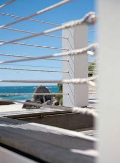 just says beach Rope Fence, Balustrades, Deck Railings, Street Furniture, Garden Inspiration, Backyard, Landscape, Beach Houses, Fences
