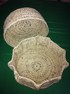 Large starched baskets from Yarn