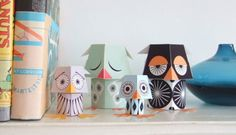 acumulando afetos: Toy art de papel