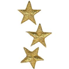 Wrights Iron-On Appliques Gold Metallic Stars ❤ liked on Polyvore featuring fillers, backgrounds, star and extras