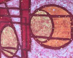 New batik by Kevin Houchin. (Detail)