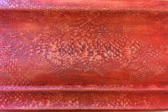 Lace pressed into Wood Icing™ - Tomato Wood Icing™ glaze - yum!