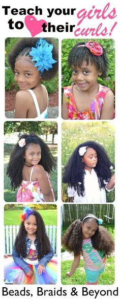 Teach your girls to love their curls! <3 www.beadsbraidsbeyond.blogspot.com