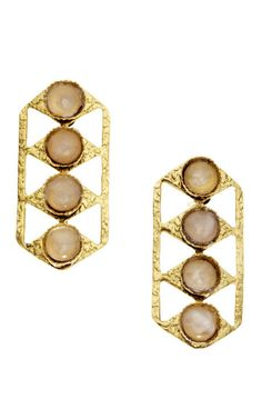 lulu frost earrings remind me of stop lights kind of but beautiful hammered gold