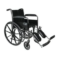 Everest & Jennings Travelers SE Steel Wheelchair Standard with Fixed Full Arms and Elevating Legres - 1 ea