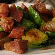 Brussels sprouts and pancetta recipe courtesy of Executive Chef John Toulze of Estate and The Girl and the Fig restaurants in Sonoma