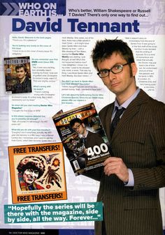 WHO ON EARTH IS....011y DAVID TENNANT - Doctor Who Magazine