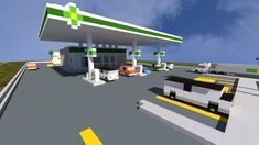 Gas Station The Block Society minecraft realistic fuel city town building ide. BP Gas Station The Block Society minecraft realistic fuel city town building ide., BP Gas Station The Block Society minecraft realistic fuel city town building ide. Minecraft Mods, Minecraft Stores, Minecraft Villa, Minecraft Modern City, Minecraft Building Guide, Minecraft City Buildings, Minecraft Mansion, Minecraft Houses Blueprints, Minecraft Plans