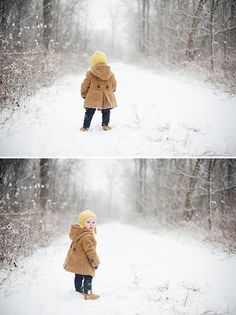 Winter photos are often overlooked but yield stunning results - especially fun if it's your toddler's first experience with snow! Snow Photography, Toddler Photography, Christmas Photography, Family Photography, Photography Ideas, Indoor Photography, Photography Lessons, Photography Lighting, Winter Family Pictures