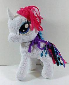 "11"" RARITY My Little Pony White w Horn Soft Plush Hasbro Funrise Toys B243"
