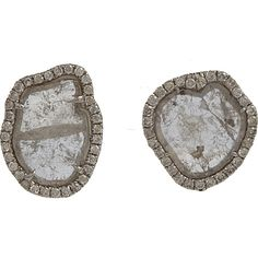 Monique Pean Atelier Diamond Slice & Pave Diamond Small Stud Earrings