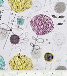 Legacy Studio Cotton Fabric-Grey Funky Floral