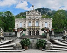 Castle | Staircase | The SCHLOSS LINDERHOF Just might be the ultimate inspiration for Cinderella Art