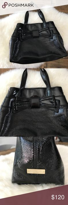 """SALE🎉 Kate Spade Maryanne Claverly handbag ♠️ Like new! Only used a couple times for job interviews. Beautiful beautiful black patent leather exterior. Gold hardware. Minor and only signs of wear inner lining. Handles and entire exterior are in perfect condition (8.5"""" drop). Kept in Kate Spade storage bag (included with sale) in a smoke free home. One owner. Dimensions: length 15"""" x 5"""" width x 10"""" height. kate spade Bags"""