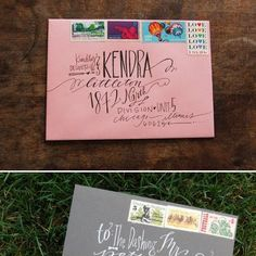 Uniquely addressed #wedding invites - Lindsay Letters. For more wedding inspiration visit www.modernwedding.com.au.