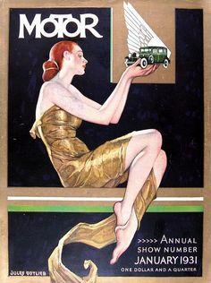 neuraldamage:    (via Vintage Blog) Motor: Jules Gotlieb 1931)  Poster for car show, 1931