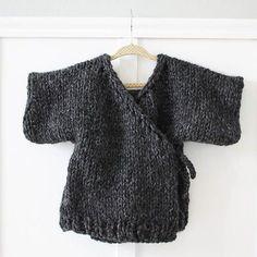Toddler Kimono Sweater | AllFreeKnitting.com
