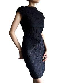 НА ЗАКАЗ. Комплект платье на бретелях и топ. Шелк - шерсть.