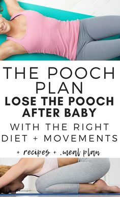 YES!! A mommy pooch plan that is more than just a few exercises! This teaches all the postpartum recovery essentials to heal and lose weight! #breastfeeding #postpartum #postpartumweightloss #postpartumpooch