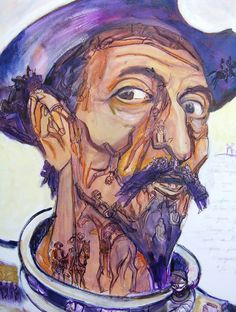 La dulce locura del Quijote [Hans Hoffmann] Edward Hopper, Albert Dubout, Françoise Sagan, Man Of La Mancha, Dom Quixote, Illusion Pictures, Michael Moorcock, Literary Characters, Chivalry