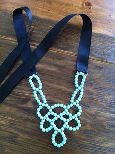 of Dwelling and Dress: DIY Bib Necklace