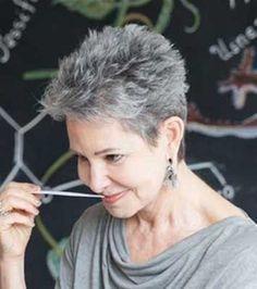 20 Short Gray Haircuts | http://www.short-hairstyles.co/20-short-gray-haircuts.html