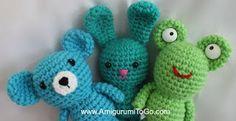 Amigurumi To Go: Bear Bunny and Frog Amigurumi Video Tutorial