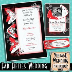 14 Best Rockabilly Wedding Invitations