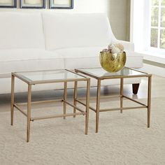 """bunching tables--a cool thing for smaller spaces.  $72 Birch Lane Nash Bunching Table Overall: 18"""" H x 20"""" W x 20"""" D"""
