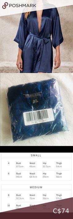 ⭐️BNIP⭐️VICTORIA'S SECRET Blue Sleek Satin Robe NWOT. Sleek blue satin robe. Tie Waist. Relaxed fit. S/M  NEVER WORN, Still in original packaging. 100% polyester.  Bundle and save on shipping! ⭐️⭐️⭐️ Victoria's Secret Intimates & Sleepwear Robes