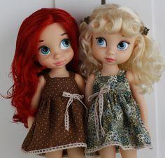 Brown polka dot summer dress for Disney Animator от LidMemories