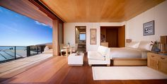 It's all in the Japanese-Malibu inspired design. Stay a little bit out of the city in this exclusive hideaway. Nobu Ryokan Malibu has only 16 guest rooms, offering serenity and privacy, along with what Nobu is known for. This is a top choice. Fine Hotels, Best Hotels, Luxury Hotels, Luxury Travel, Four Seasons Hotel, Hotels In Malibu, Nobu Malibu, Ocean Room, Hotel California