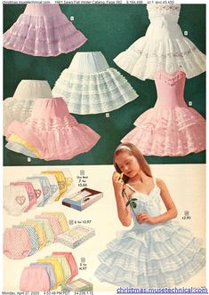 1961 Sears Fall Winter Catalog, Page 362 - Christmas Catalogs Holiday Wishbooks Retro Outfits, Vintage Outfits, Vintage Fashion, Vintage Clothing, Pretty Lingerie, Vintage Lingerie, Petticoated Boys, Dress Outfits, Dress Up