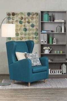 El sillón Valcheta es ideal para crear un toque de protagonismo a tu sala. Atrévete a usarlo.