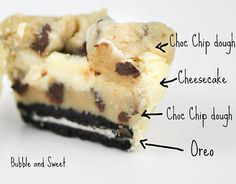 Chocolate Chip cookie dough cheesecakes