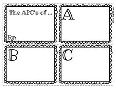 FREE Printable ABC Book: Use for Mother's/ Father's Day, End of the Year scrapbook, content area/ math/ vocabulary dictionaries.